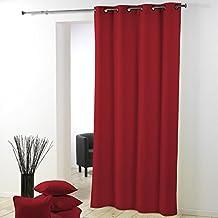 Douceur D'Intérieur  - 1603523, Tenda Con Occhielli , 140 X 280 Cm , Essentiel , Poliestere Unito , Rosso