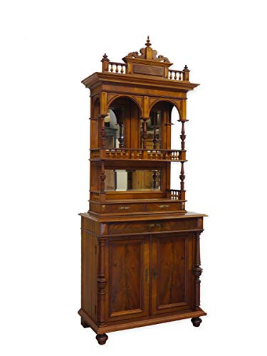 Gründerzeit Aufsatzschrank Buffet Buffetschrank um 1880 | Palisander furniert | Antiker originaler Schrank (9218) -