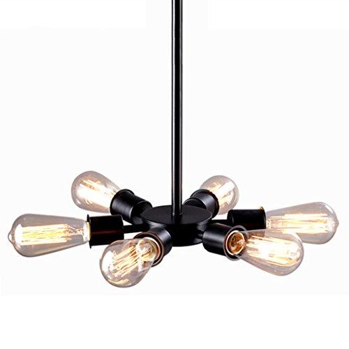 @lustre Industriel Vintage Style Lustre 6 Lumières Steampunk Tube En Métal Pays Intérieur Maison Rétro Lampes (Cuivre Huilé) Pour Salon Restaurant Ø26CM [Classe Énergétique A +]