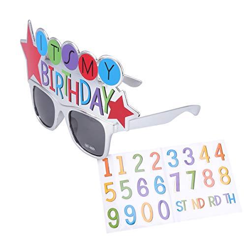 Happy Kostüm Kinder - Amosfun Happy Birthday Brille mit Zahlen