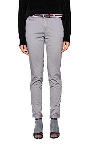 ESPRIT Damen Hose 998EE1B801, Grau (Light Grey 040), 38 (Herstellergröße: 38/32)