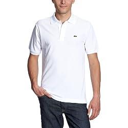Lacoste L1212-00 - Polo de manga corta para hombre, Bianco, 52 (T5)