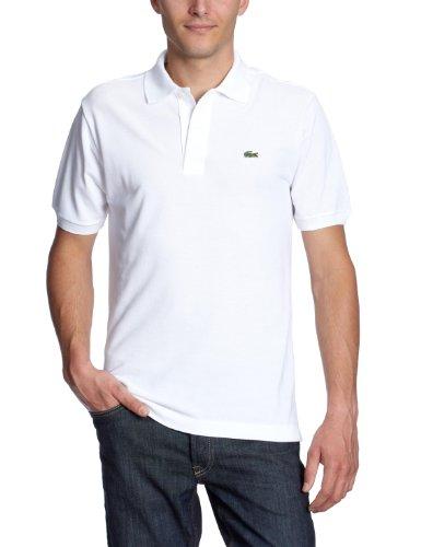 Lacoste Herren Regular Fit Poloshirt L1212 Einfarbig, Weiß (Blanc), L (Herstellergröße: 5)