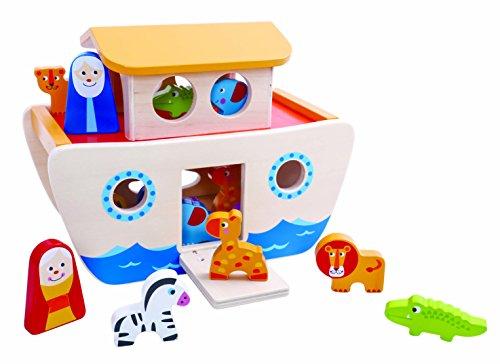 Tooky Toy - Arca de Noé con animales - Juguete de madera...