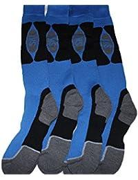 4 pairs mens long blue ski socks