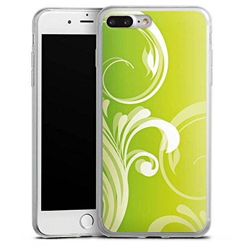 Apple iPhone 8 Slim Case Silikon Hülle Schutzhülle Blumen Ranken Blätter Silikon Slim Case transparent