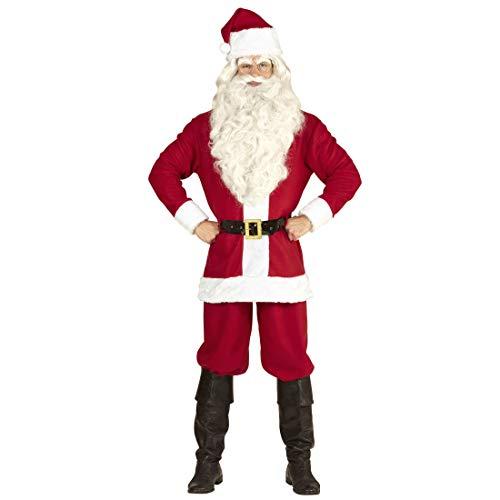 Amakando Weihnachts-Outfit Santa Claus für Männer / Rot-Weiß in Größe XL/XXL (54/56) / Herren-Kostüm Knecht Ruprecht / Ideal zu Weihnachtsfeier & Weihnachten (Santa Outfit Männer)