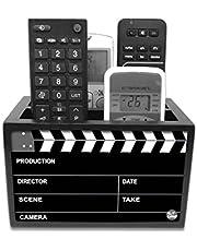 "Nutcase Designer Wooden Remote Control Holder Stand Organizer Caddy for TV/AC Remotes-Multipurpose Desk Organiser-6""x4""x4""- Filmy"