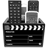 "Nutcase Designer Wooden Remote Control Holder Stand Organizer Caddy for TV/AC Remotes-Multipurpose Desk Organiser-6""x4""x4""- Filmy"