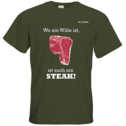 getshirts - SizzleBrothers Merchandise Shop - T-Shirt - SizzleBrothers - Grillen - ...ist auch ein Steak Khaki