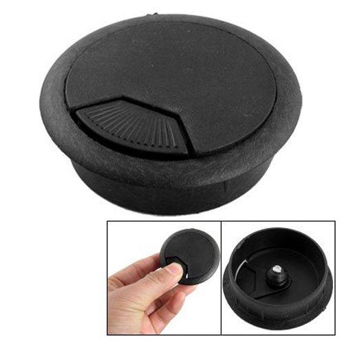 Preisvergleich Produktbild Computer-Schreibtisch Tisch Tülle Kabel Loch Cover aus Kunststoff schwarz