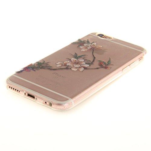 A9H iPhone 6/6S 4.7 Hülle mit Kameraschutz transparent dünne Schutzhülle Case Cover für iPhone 6/6S aus flexiblem TPU -27HUA 09HUA