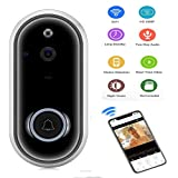 KOBWA Video Doorbell Wireless, Wireless Video Doorbell HD WiFi Security Camera, Real-Time Two-Way Talk and Video, Night Vision, PIR Motion Detection and App Control for iOS, Android