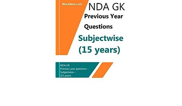 Nda guide gk array nda gk previous year questions u2013 subjectwise u2013 15 years ebook rh fandeluxe Image collections