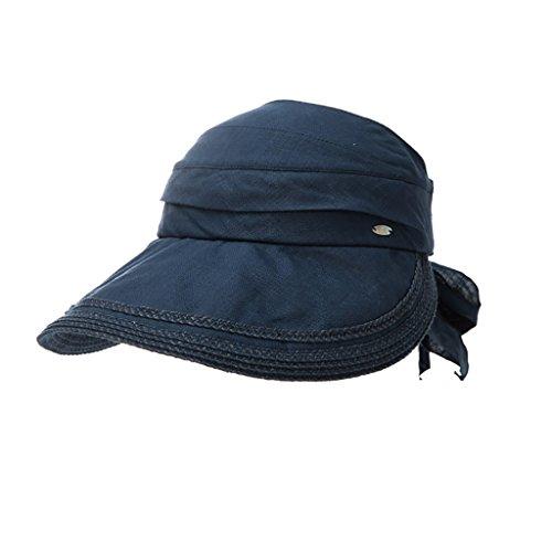 Lwtym cappello visiera donna ms estate cappellino da sole in lino da viaggio tappo protezione solare da viaggio