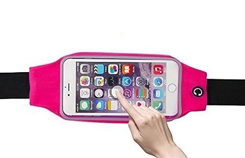NOV@GO® Ceinture de sport néoprène imperméable 5,5'', pour iPhone 7 , iPhone 7 Plus , iPhone 6, iPhone 6 Plus, Samsung Galaxy note 1/2/3/4/5 , Galaxy S7 Edge , Galaxy S6 Edge Plus et les autres