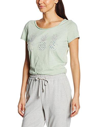 Tom Tailor Pineapple Print Shirt, T-Shirt Femme Vert (fresh mint green 7689)