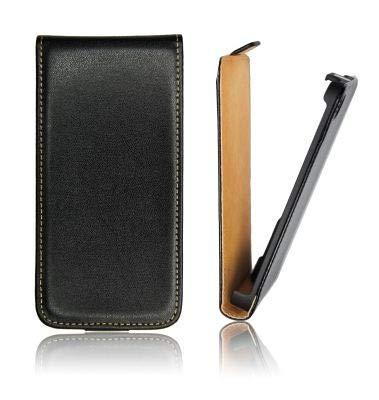 Samsung CUSTODIA VERTICALE SLIM FLIP PELLE NOTE2, N7100, N7105 COLORE NERO