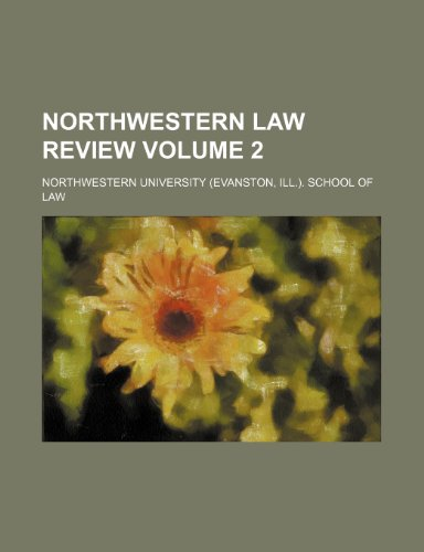 Northwestern law review Volume 2