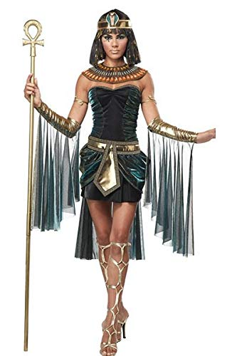 Ägyptischen Cleopatra Göttin Kostüm - MultishopVA Sexy Frau Kostüm Cleopatra Queen of Egypt ägyptische Göttin Kostüm Einheitsgrösse