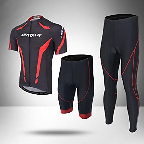 XINTOWN Summer Quick Dry Bicyclette à bicyclette respirante Vélo de montagne Pantalons cyclistes unisexs Collants Ensembles de vêtements Costumes Short Sleeve Sports de plein air ( Size : XXXL )