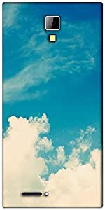 Snoogg cloudy days Designer Protective Back Case Cover For Micromax Canvas Express A99