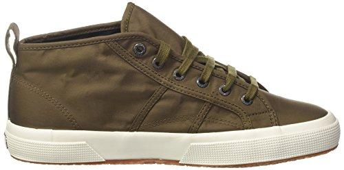 Superga 2754-Nylm New, Sneaker a Collo Alto Uomo Verde (Militarygreen-Fwhite)
