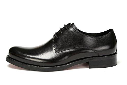 GRRONG Scarpe In Pelle Da Uomo Autentico Abbigliamento Formale In Pelle Nero Business Black