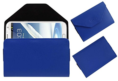 Acm Premium Pouch Case For Samsung Galaxy Note 2 N7100 Flip Flap Cover Holder Blue  available at amazon for Rs.329