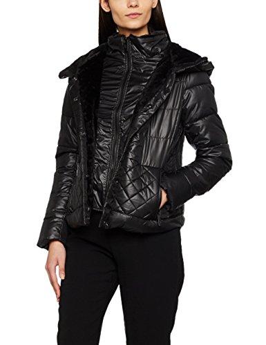 New Look Mix Faux Fur Padded, Vestes Femme Black (Black Pattern)