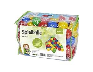 Knorrtoys 56780 - Bälleset - 100 Piezas en el Color de la Bolsa de plástico