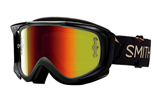 SMITH MX Goggle V2 SX Disruption red mirror +gratis Extra Scheibe: clear