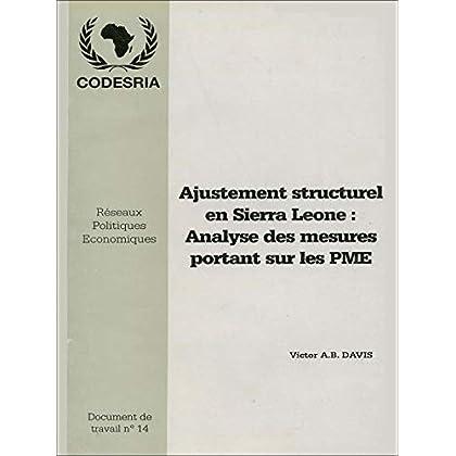 Ajustement structurel en Sierra Léone: Analyse des mesures portant sur les PME (Alter développement)