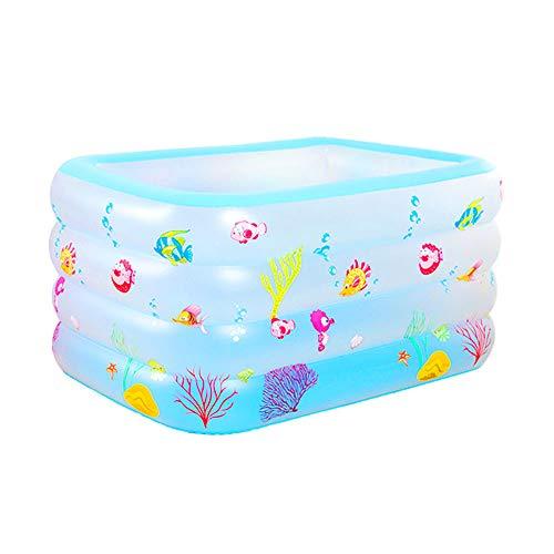 SUMMERSEA Scheuern Sie aufblasbaren Swimmingpool des quadratischen Babys, aufblasbares Wasserspielzeug der neugeborenen Innenverdickungsbabyschaufelhauptpool geschmacklosen Umweltschutzes im Freien