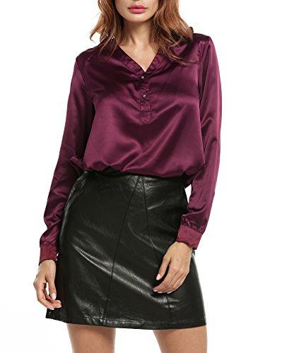 zeagoo-damen-satin-bluse-business-hemd-hemdbluse-langarm-v-ausschnitt-stretch-oberteil-blusenshirt-w