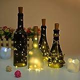 Flaschenlicht, AGPtek Weinflaschen Lichter 6 Stück Flasche Mini-Lichterkette Flaschenbeleuchtung 75cm Kupferdraht Licht Sternenlicht für Flasche DIY