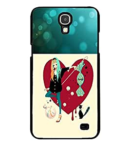 Fuson Premium Candy Girl Metal Printed with Hard Plastic Back Case Cover for Samsung Galaxy Mega 2 G7508