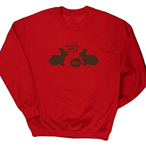 HippoWarehouse - Sweat-shirt - Fille - rouge - 4 ans