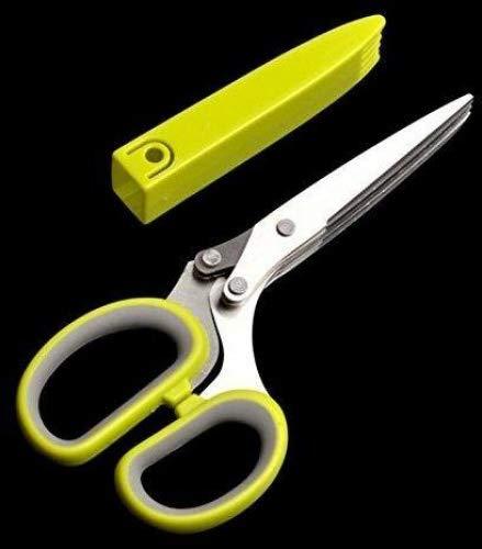 dersoning Schere Schneider Nagelfeile Edelstahl 5-blade Herb Scissors Blade Herb Scissors