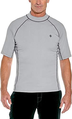 Coolibar - UV-Badeshirt für Herren - Kurzarm - Silbergrau (Schwimmen Coolibar Shirt)