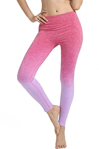 DODOING Frauen Sport Hose athletische Gymnastik Workout Fitness Gym Pants Ombre Yoga Leggings Hose Für Damen (Athletischer Sport-bh)