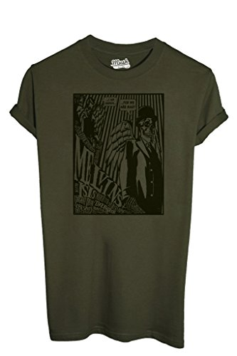 T-Shirt MELVINS POSTER GIG - FILM by MUSH Dress Your Style - Uomo-M-VERDE MILITARE