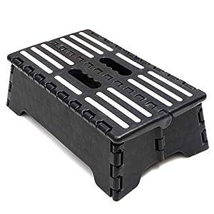Rutschfester Klapphocker, Tritthocker |bis 150kg |38x22x13cm Tragbarer Faltbarer Aufstiegshilfer Hocker für Ältere…