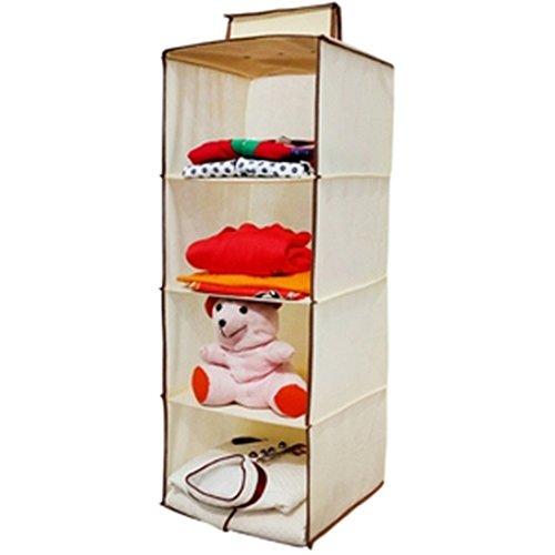 Homecute hanging storage wardrobe closet storage organizer