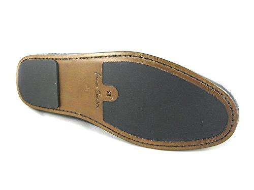 Franco Cuadra Calf Leather Shoes for Men Schwarz