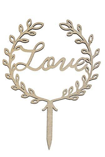 Miss Lovely Kuchen-Aufsatz Boho Love / Kuchen-Stecker / Torten-Aufsatz Echt-Holz / Hochzeit-sdeko / Kuchen-Dekoration / Hochzeits-Torte / Cake-Topper Liebe Gebäck