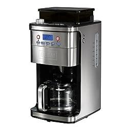 BEEM Fresh-Aroma-Perfect Superior, Kaffeemaschine mit Mahlwerk und Permanent-Goldfilter, Edelstahl