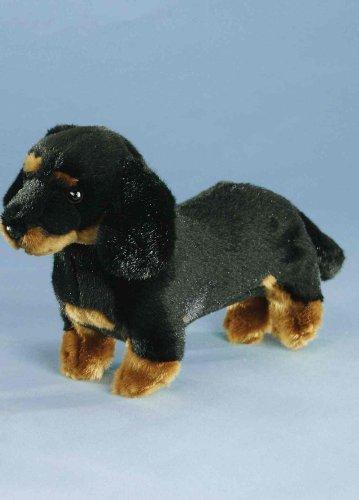 Dackel schwarz-braun, ca. 27 cm