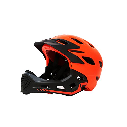 Novopus:Kinderfahrrad, Fahrradhelm/Kinderrutsche/Balance Car/Speed   Skating Mountain Integralhelm, abnehmbar, schwarz orange
