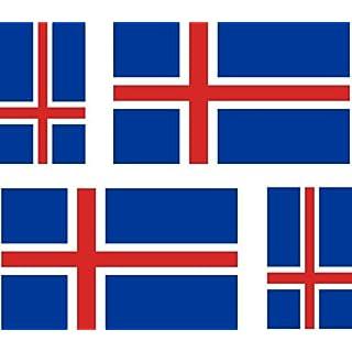 4x selbstklebend Sticker Auto Moto Koffer Laptop Flagge Island islandai